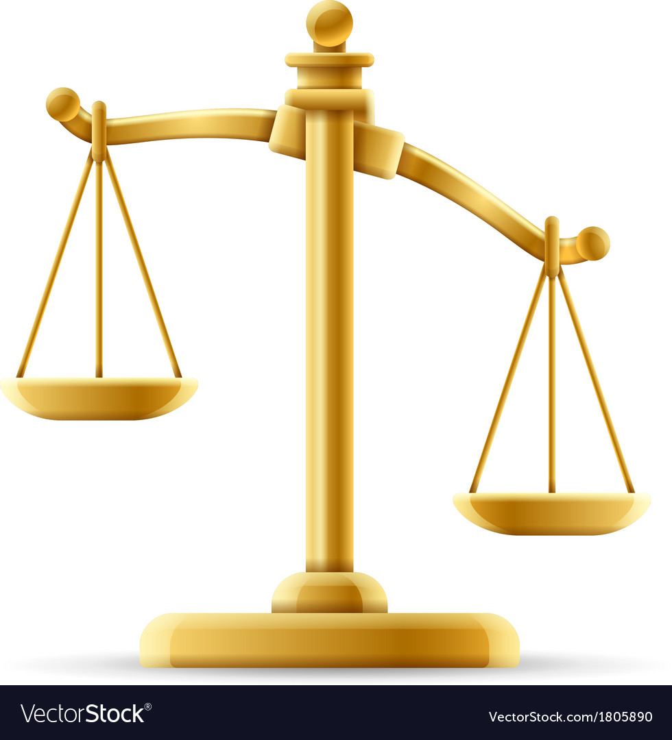Unbalanced scale of justice vector | Price: 1 Credit (USD $1)