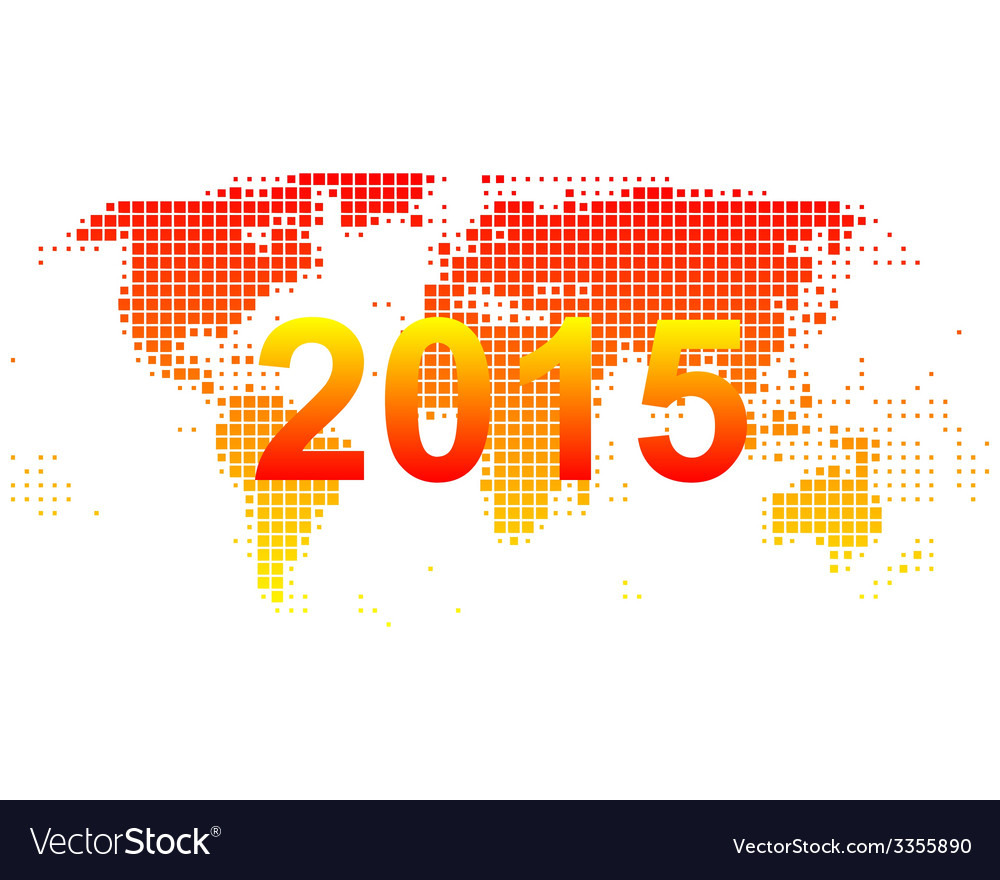 World map 2015 vector
