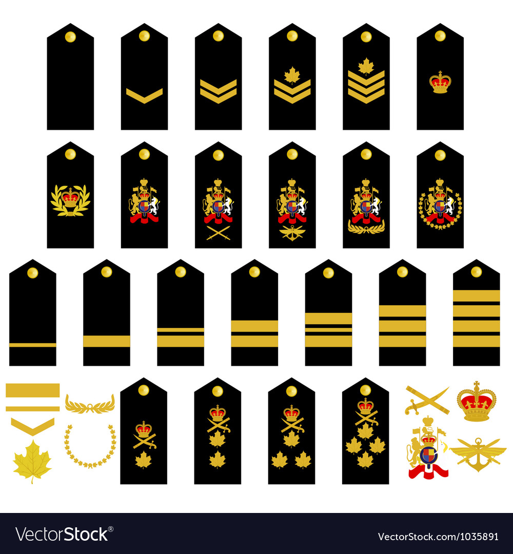 Canadian army insignia vector | Price: 1 Credit (USD $1)