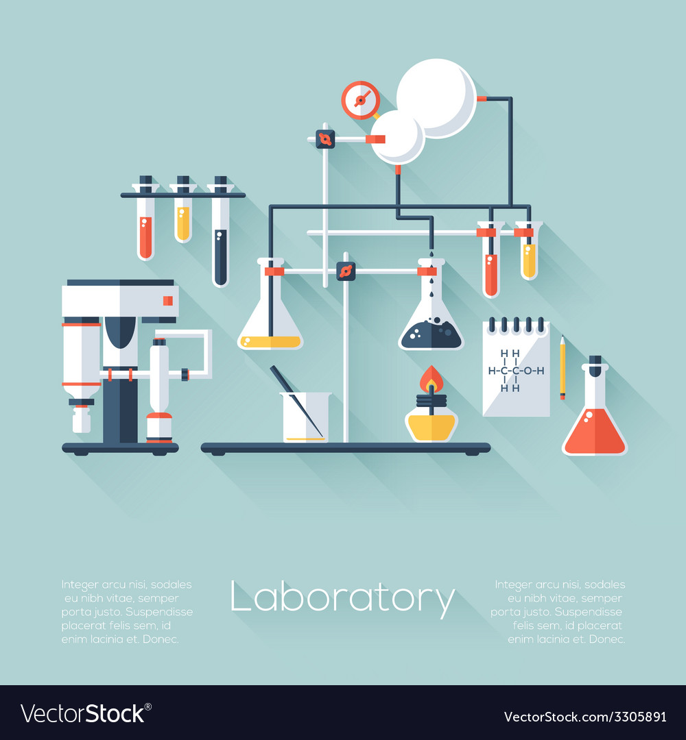 Chemistry education research laboratory equipment vector | Price: 1 Credit (USD $1)