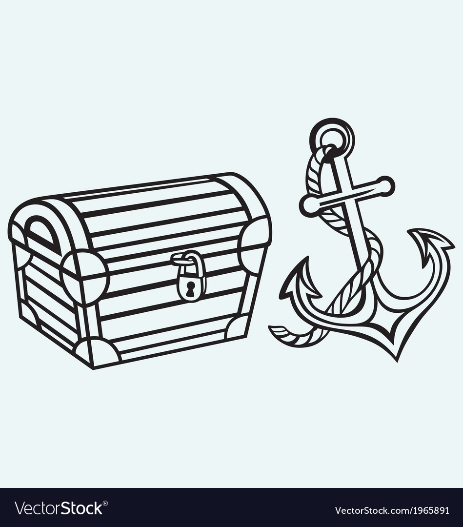 Chest and anchor vector | Price: 1 Credit (USD $1)