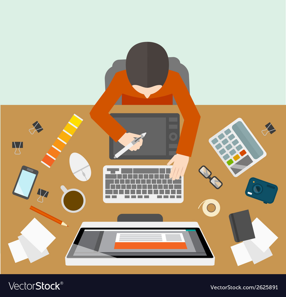 Designer management workplace vector   Price: 1 Credit (USD $1)