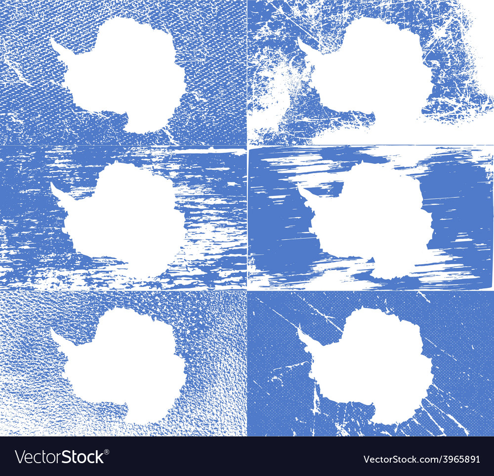 Flag of antarctica with old texture vector | Price: 1 Credit (USD $1)