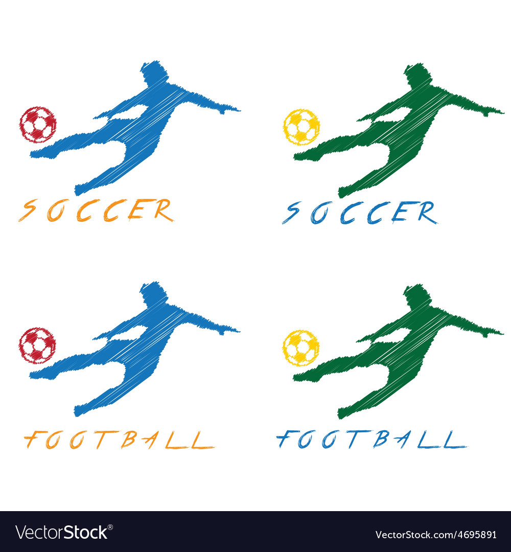 Football and soccer player vector | Price: 1 Credit (USD $1)