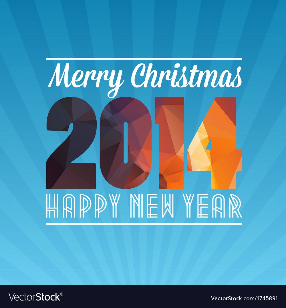 Happy new year and marry christmas vector | Price: 1 Credit (USD $1)