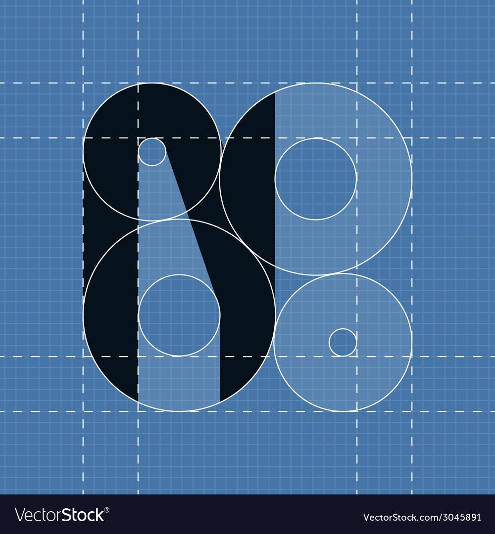 Round engineering font symbol n vector | Price: 1 Credit (USD $1)
