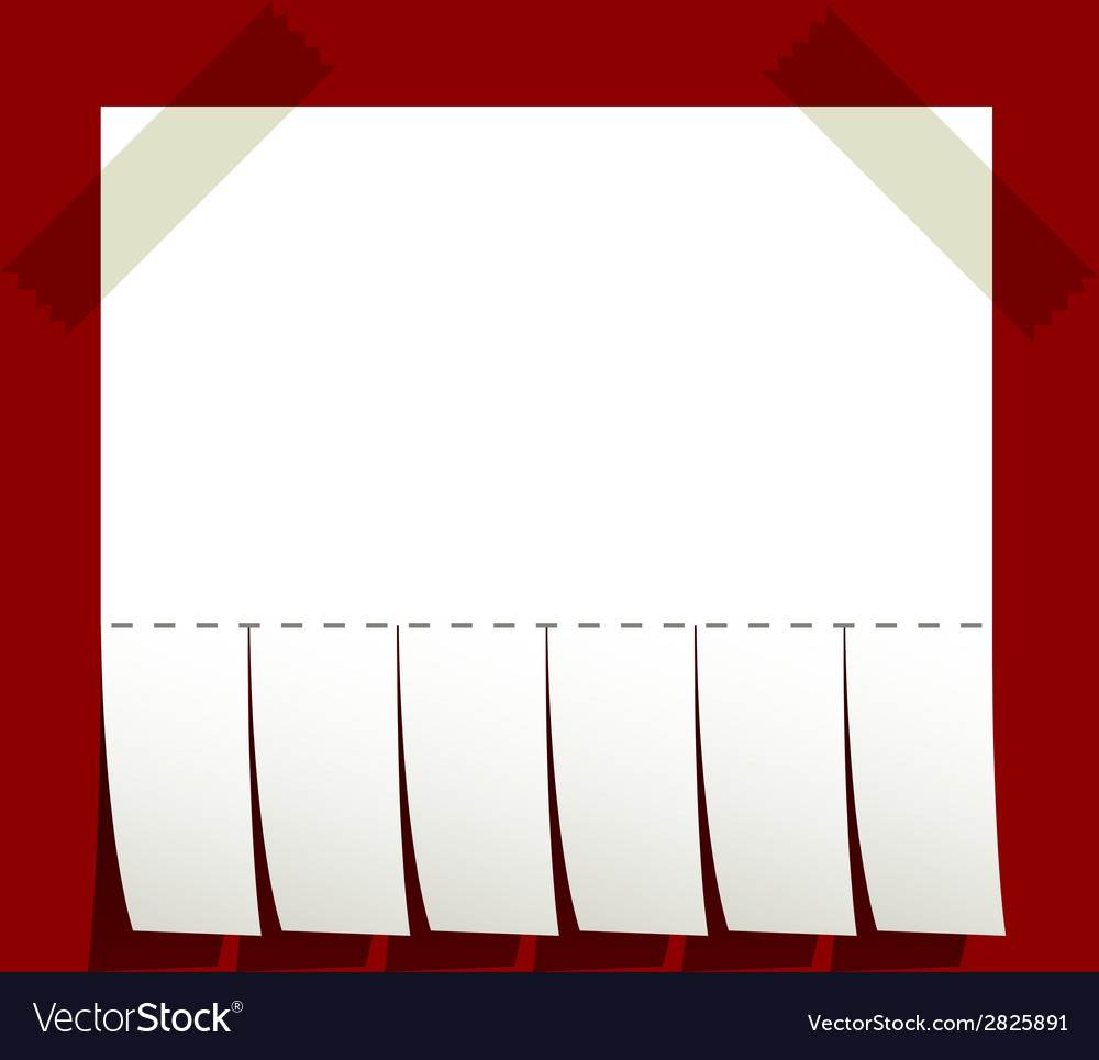 Taped blank advertisement paper vector | Price: 1 Credit (USD $1)
