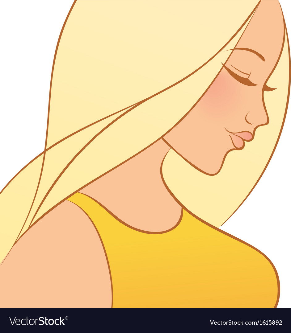 Beautiful woman vector | Price: 1 Credit (USD $1)