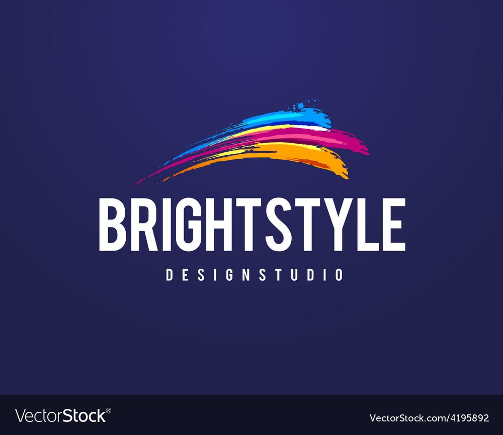 Bright style logo vector | Price: 1 Credit (USD $1)