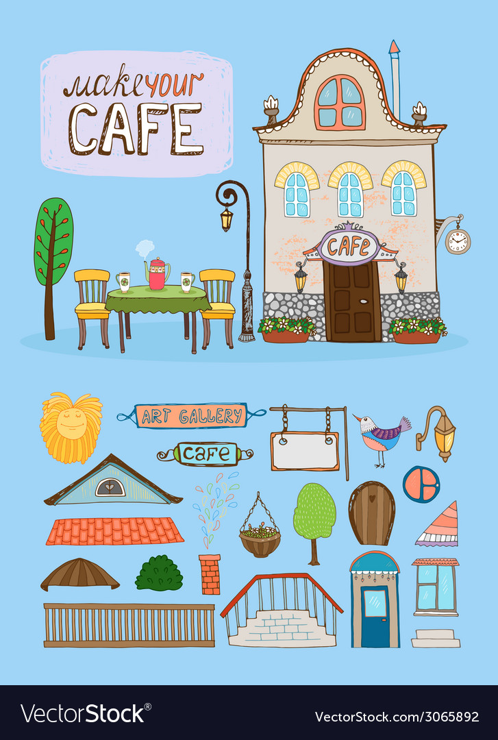 Cafe house vector | Price: 1 Credit (USD $1)