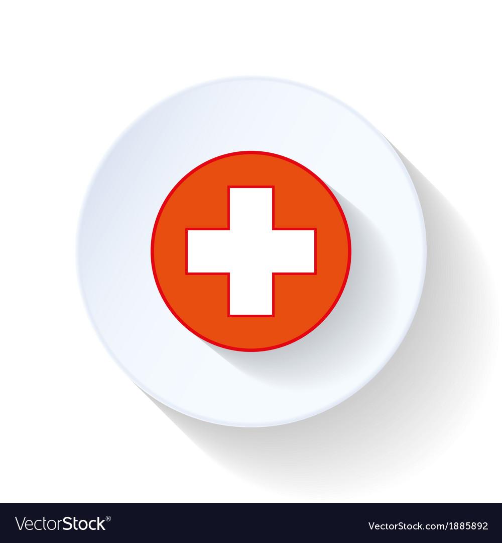 Cross ambulance flat icon vector | Price: 1 Credit (USD $1)