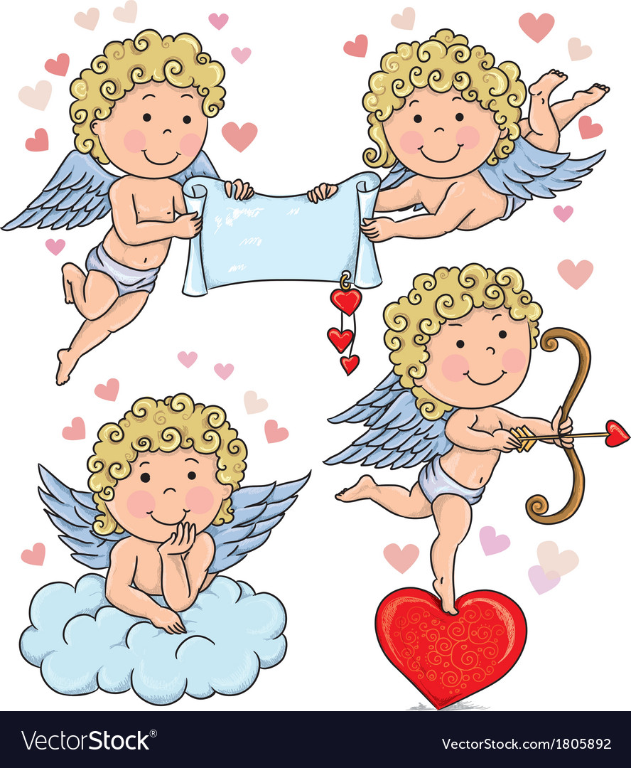 Cupids kids 2 vector | Price: 1 Credit (USD $1)