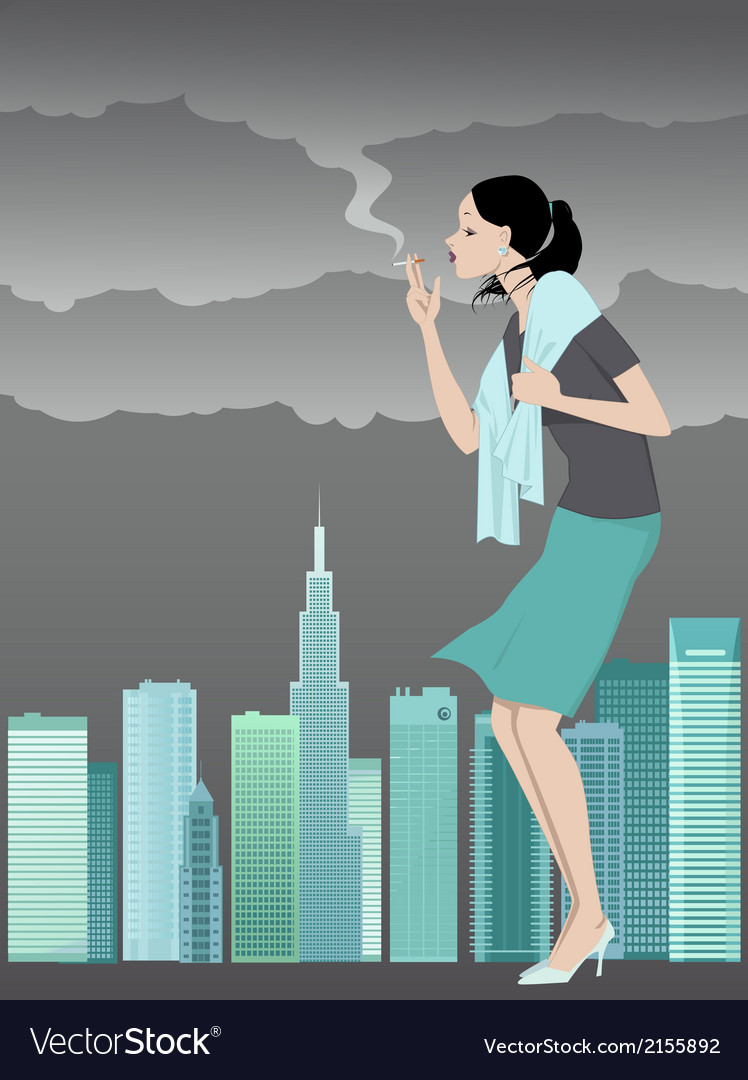 Danger of smoking vector | Price: 1 Credit (USD $1)