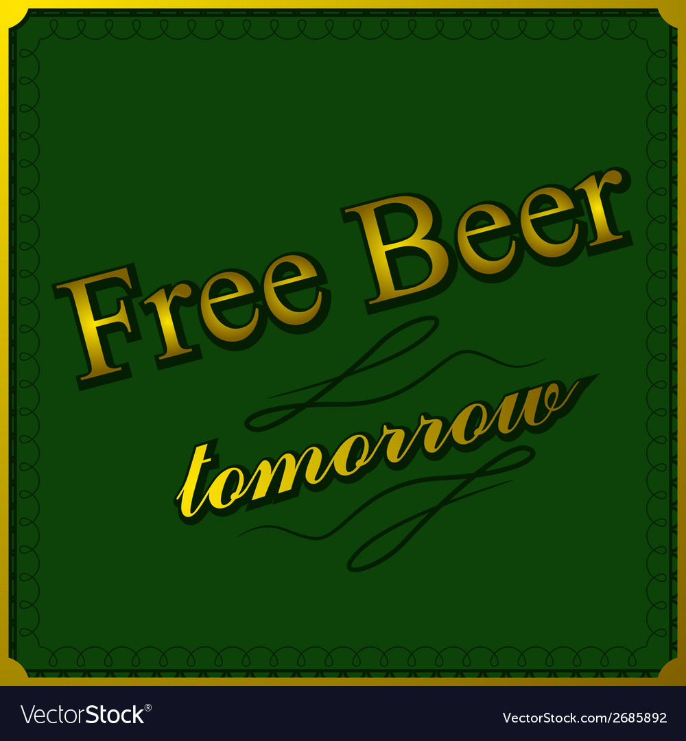 Free beer background vector | Price: 1 Credit (USD $1)