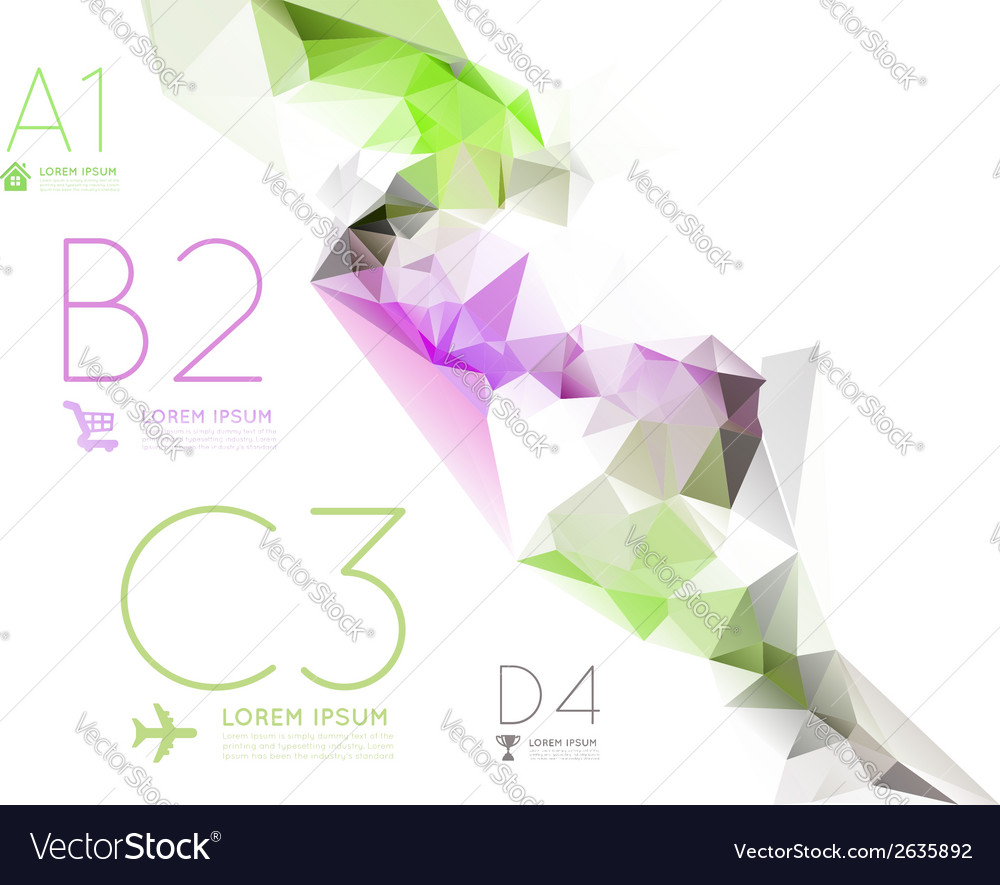 Infographic options with color polygonal vector | Price: 1 Credit (USD $1)