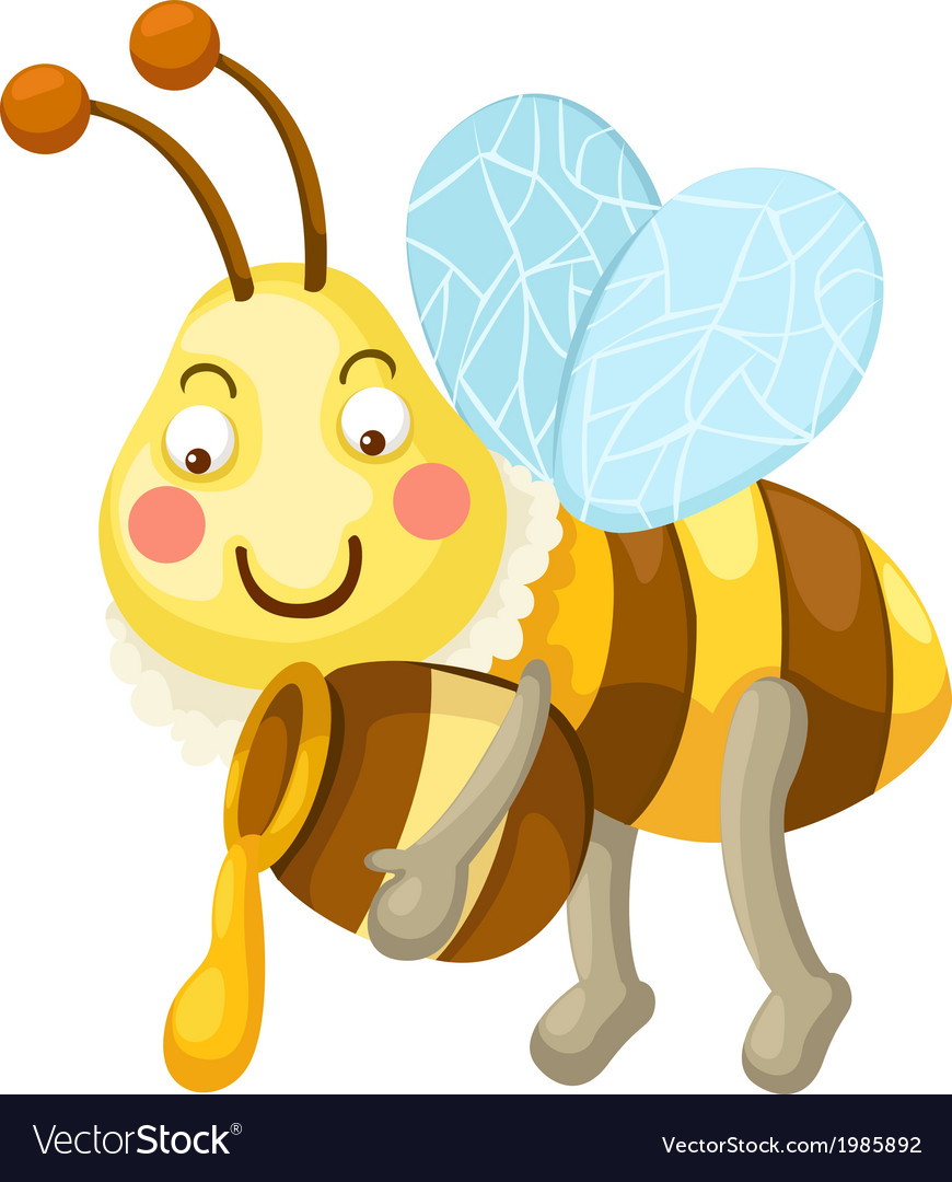Isolated bee vector | Price: 1 Credit (USD $1)