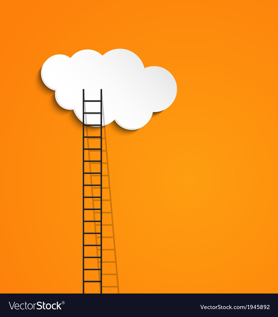 Ladder to cloud vector | Price: 1 Credit (USD $1)