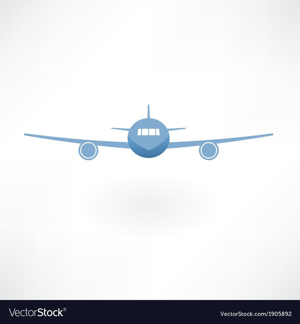 Plane flies icon vector | Price: 1 Credit (USD $1)