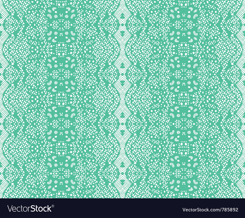 Seamless lace mint color vector | Price: 1 Credit (USD $1)