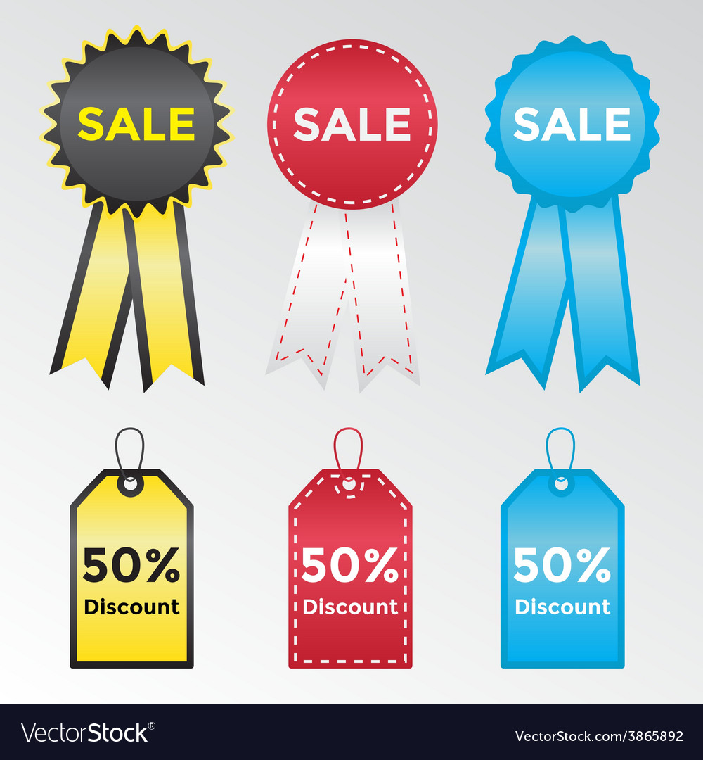 Set of labels and stickers for sales vector | Price: 1 Credit (USD $1)