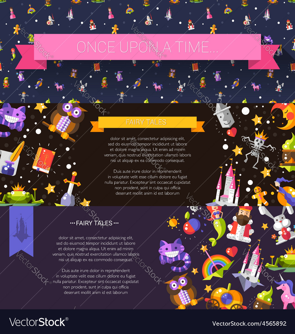 Set of modern flat design fairy tales and magic vector   Price: 1 Credit (USD $1)