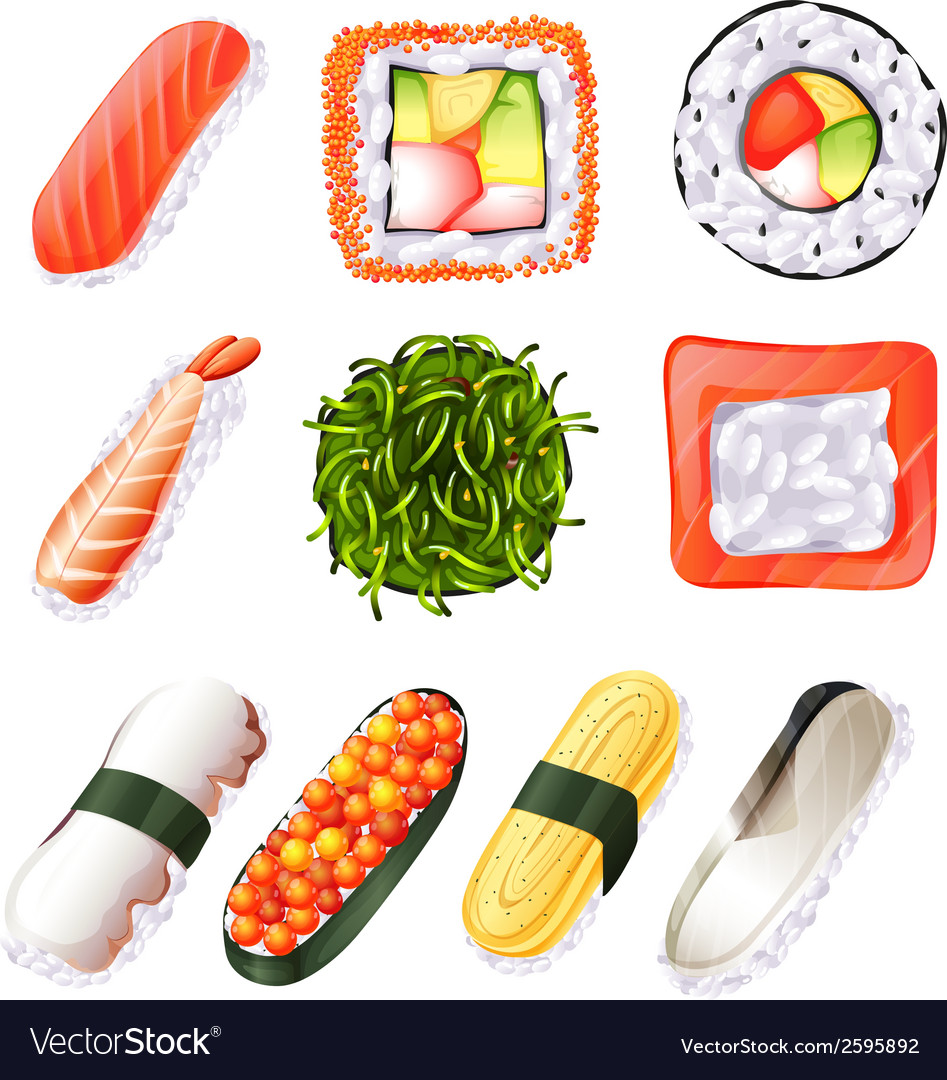 Set of sushi vector | Price: 1 Credit (USD $1)