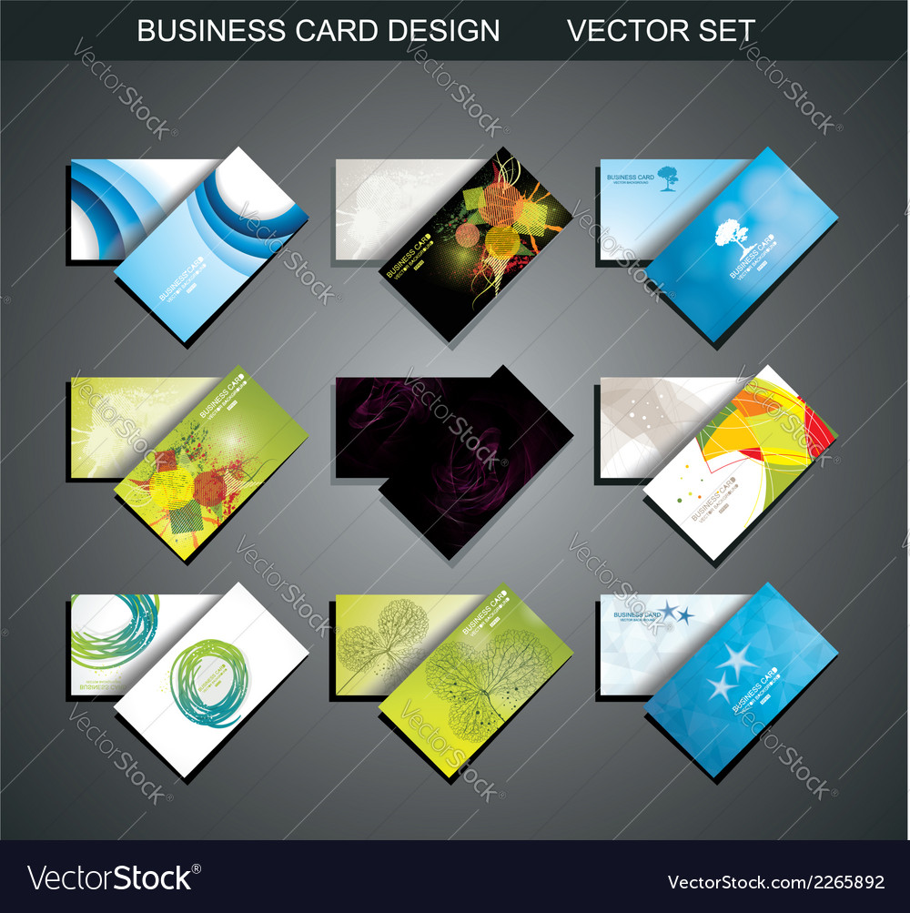 Various business card set vector | Price: 1 Credit (USD $1)
