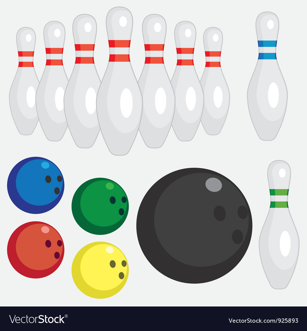 Bowling set vector | Price: 1 Credit (USD $1)