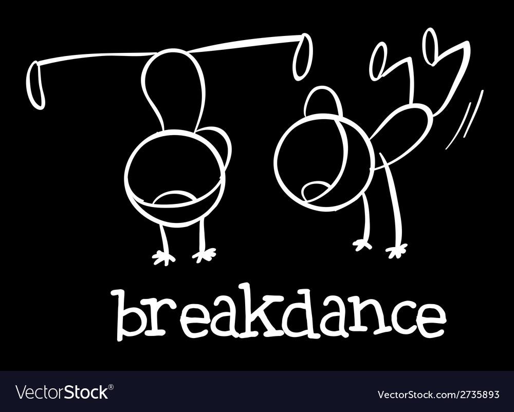 Breakdance vector | Price: 1 Credit (USD $1)