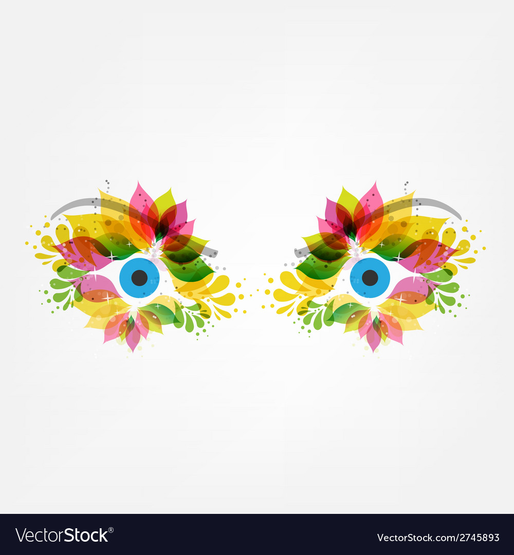 Floral eyes vector | Price: 1 Credit (USD $1)