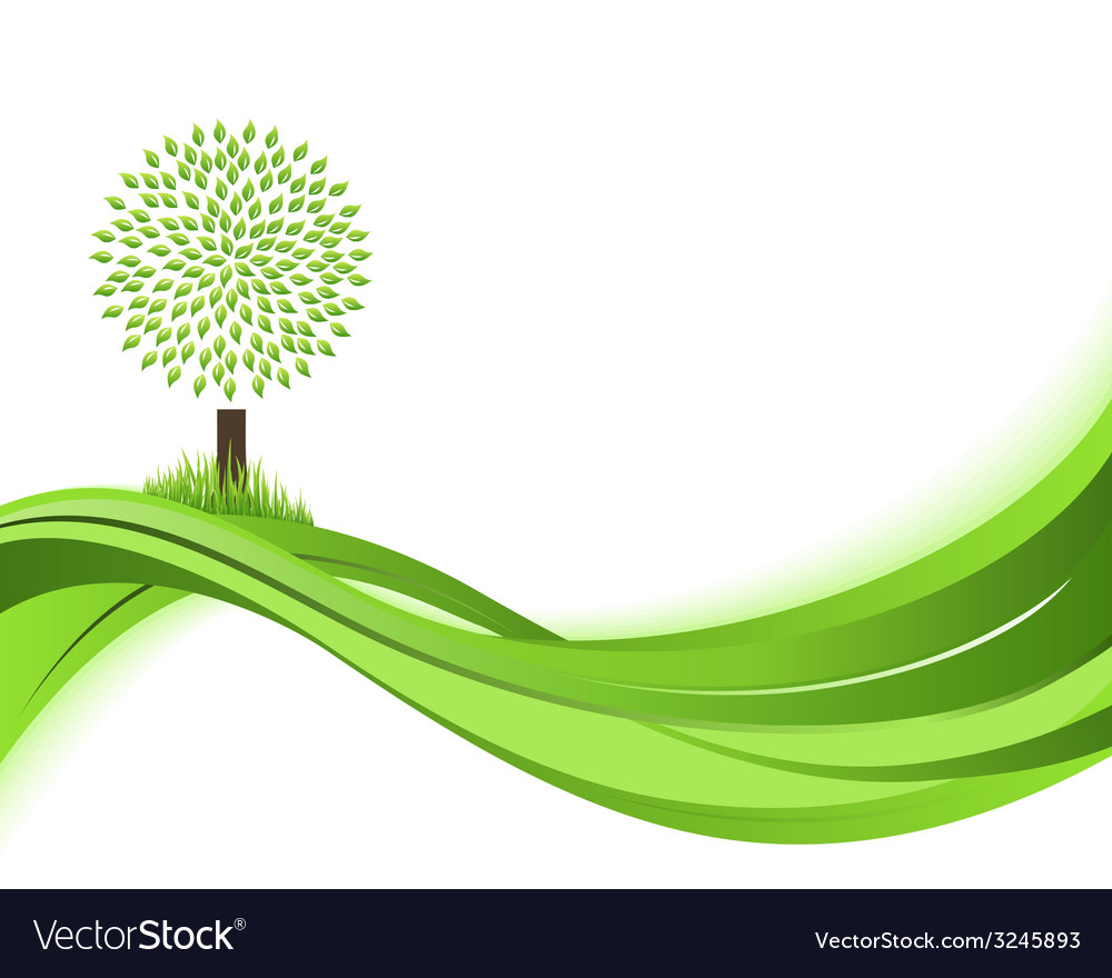 Green nature background eco concept vector | Price: 1 Credit (USD $1)