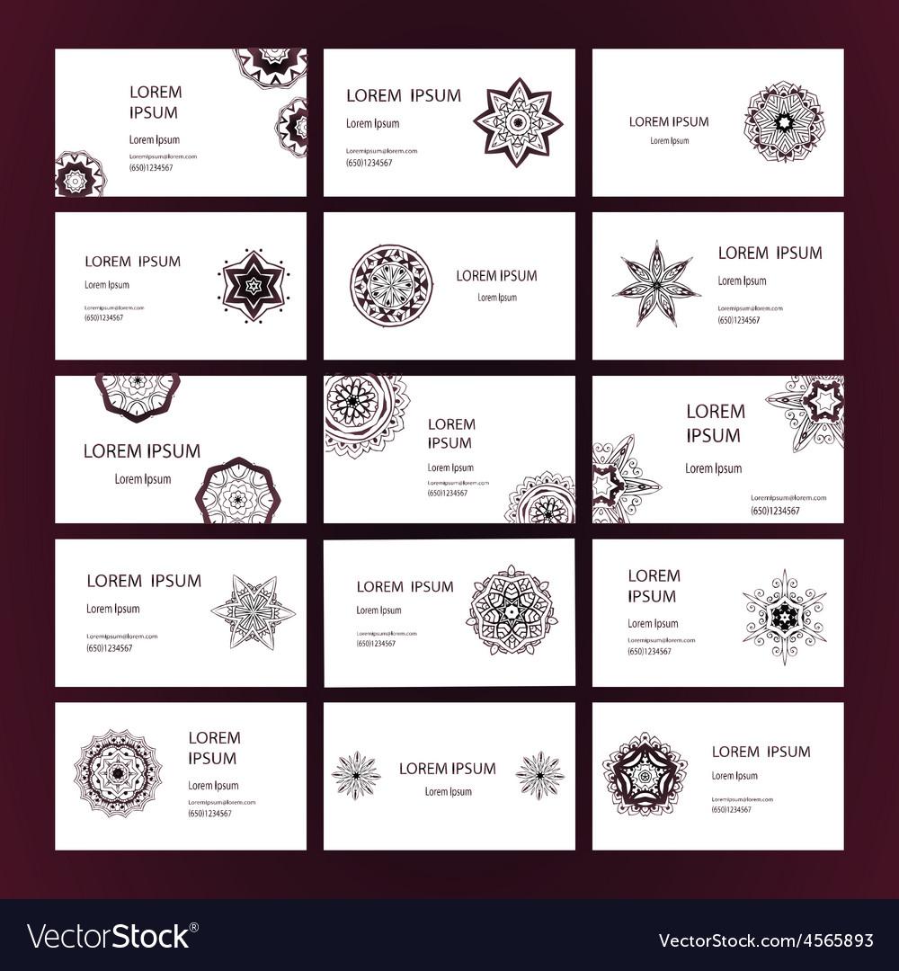 Mandalas business card 2 vector | Price: 1 Credit (USD $1)