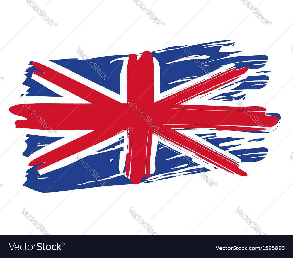 Painted british flag vector