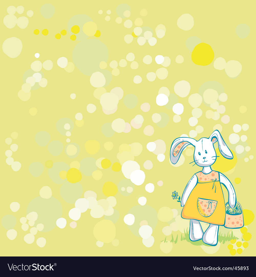 Summertime bunny vector | Price: 1 Credit (USD $1)