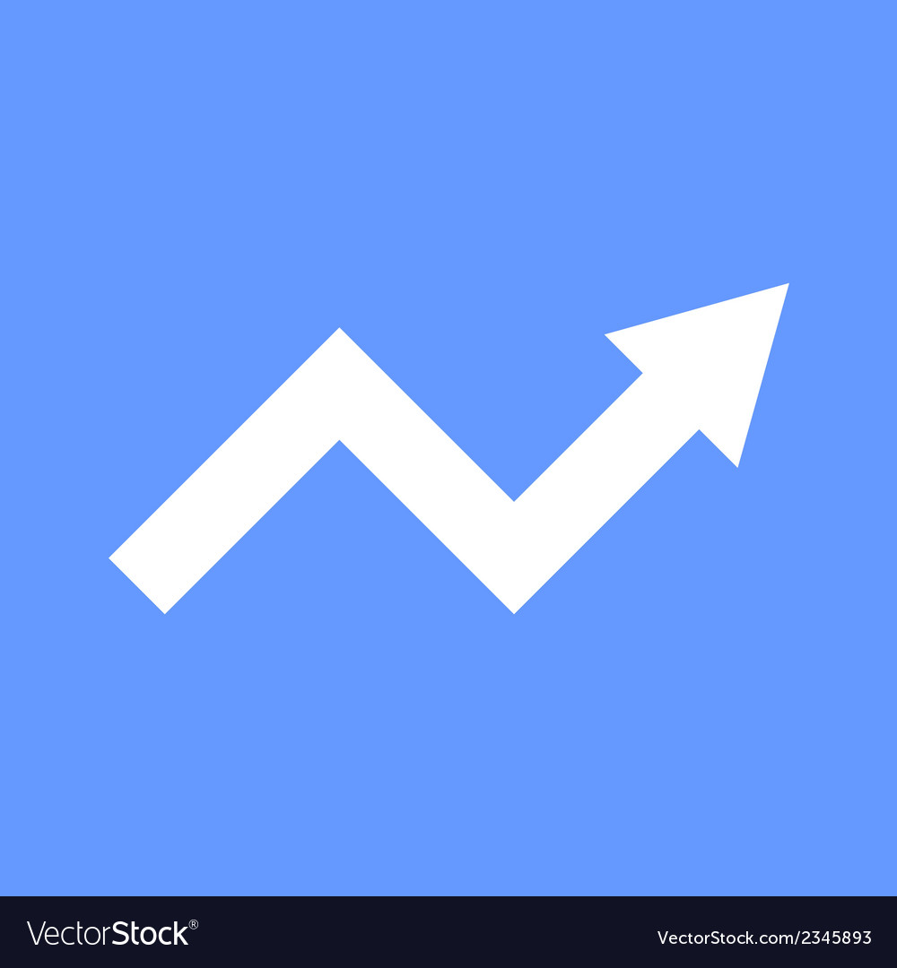 White arrow graph on blue background vector | Price: 1 Credit (USD $1)
