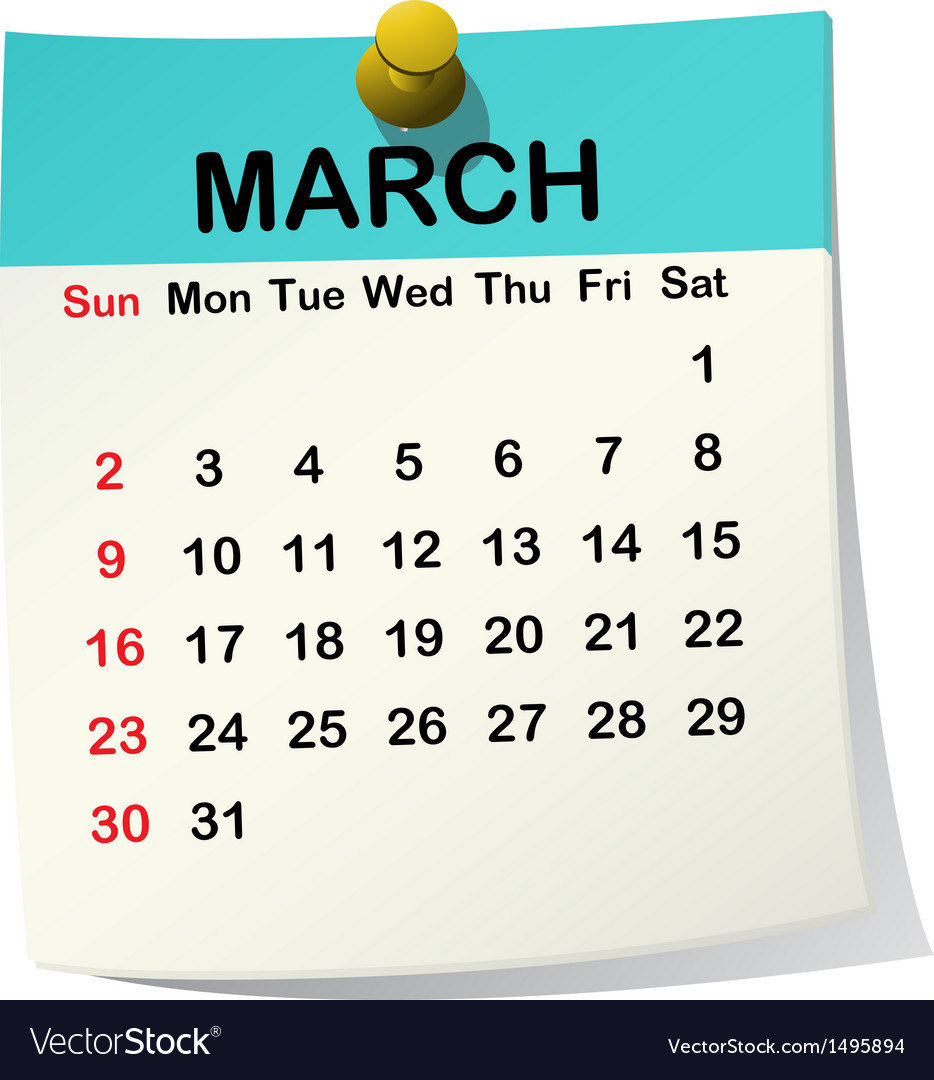 2014 calendar for march vector | Price: 1 Credit (USD $1)