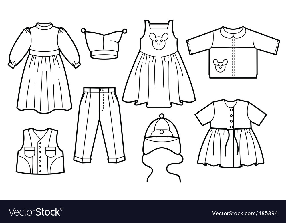 Children clothes vector | Price: 1 Credit (USD $1)