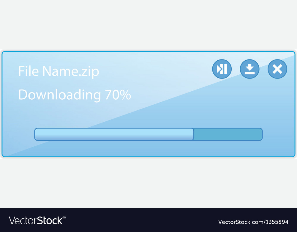 Downloading file with progress bar vector | Price: 1 Credit (USD $1)