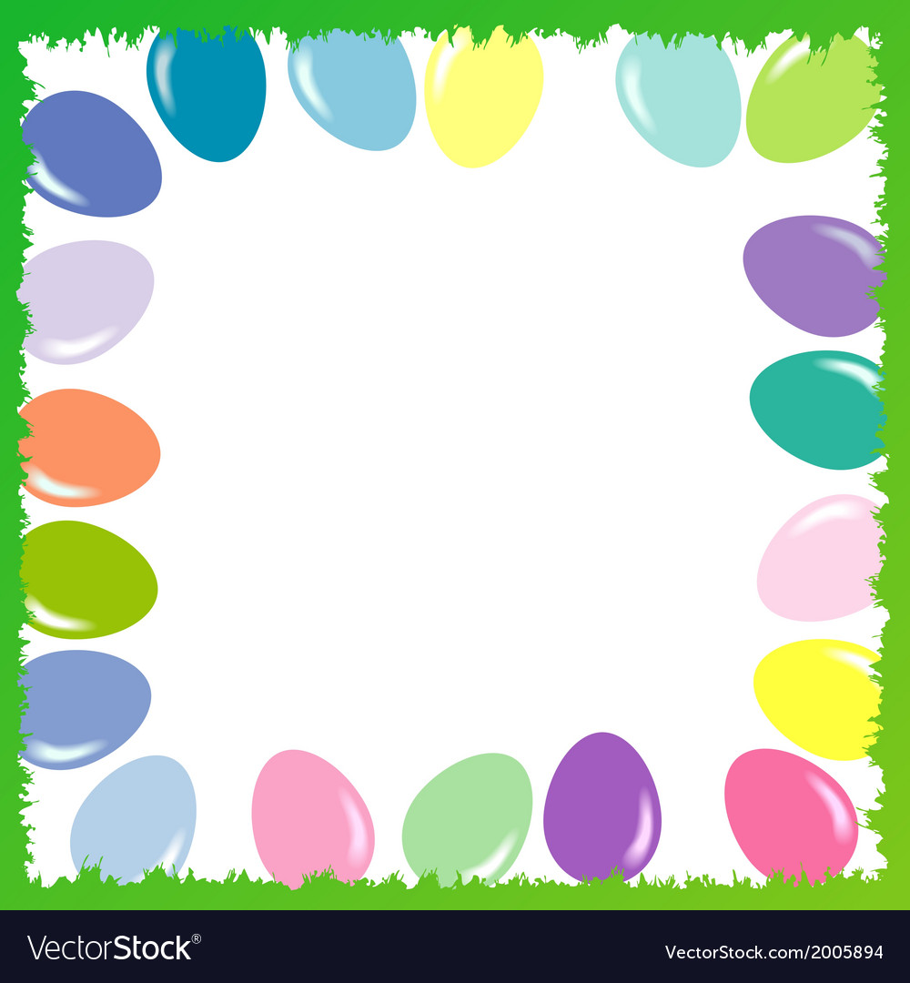 Easter background with eggs 2d vector | Price: 1 Credit (USD $1)