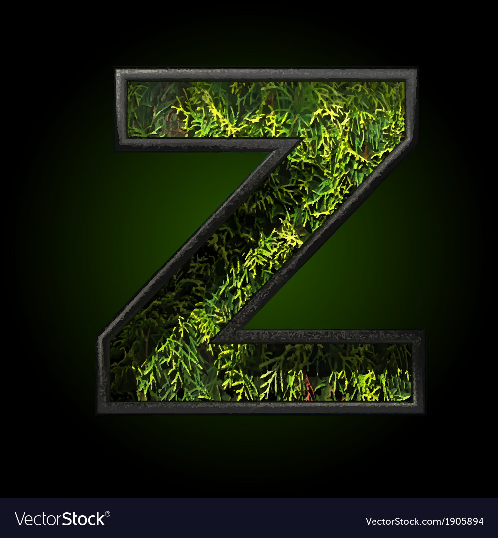 Grass cutted figure z vector | Price: 1 Credit (USD $1)