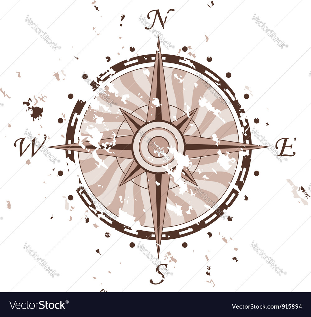 Grunge compass vector | Price: 1 Credit (USD $1)