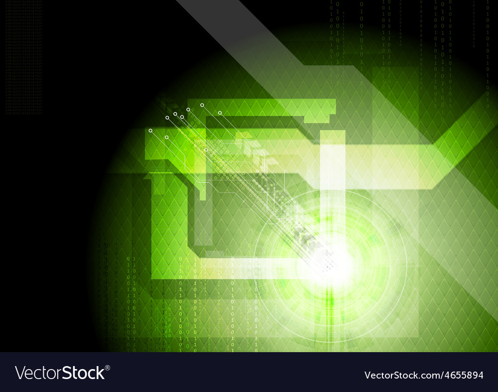 Modern technical green background vector   Price: 1 Credit (USD $1)