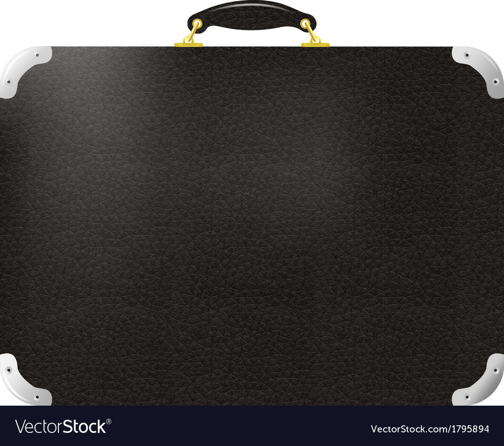 Old black leather travel bag vector | Price: 1 Credit (USD $1)