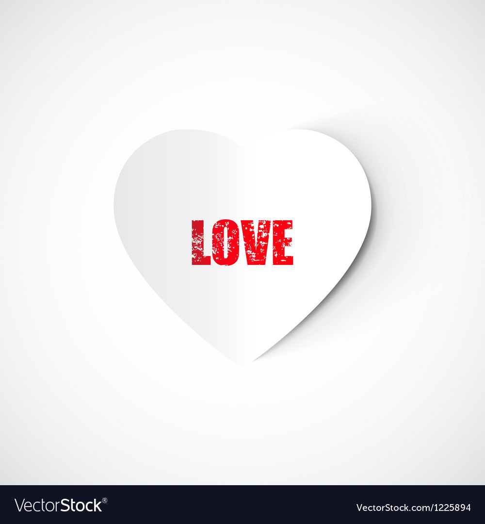 Paper heart valentines day card vector | Price: 1 Credit (USD $1)