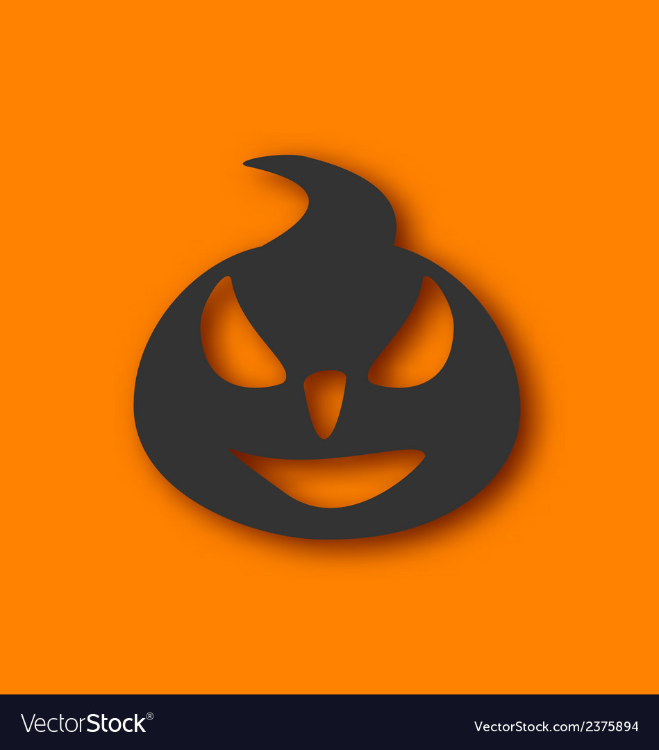 Paper pumpkin with an evil expression on his face vector | Price: 1 Credit (USD $1)