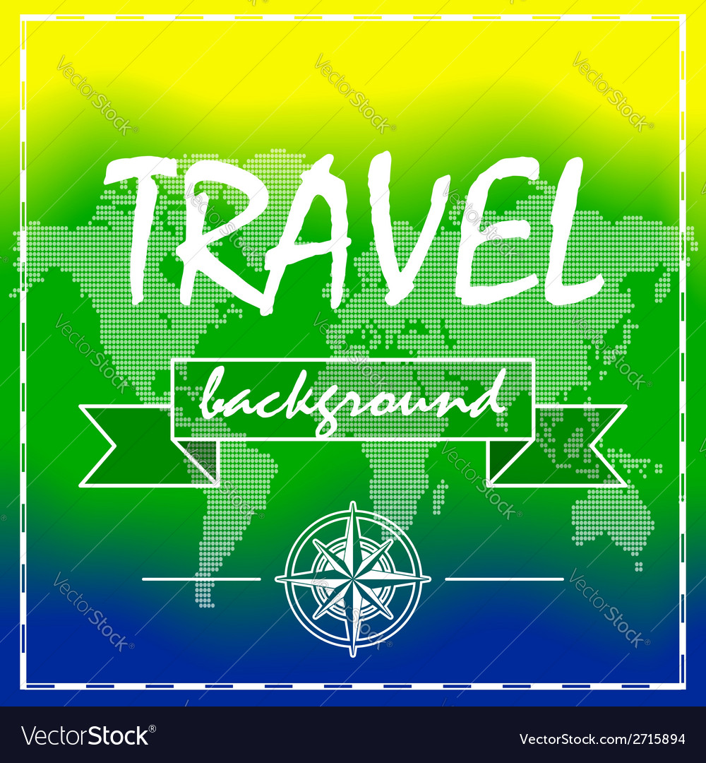 Summer travel background with world map and vector | Price: 1 Credit (USD $1)