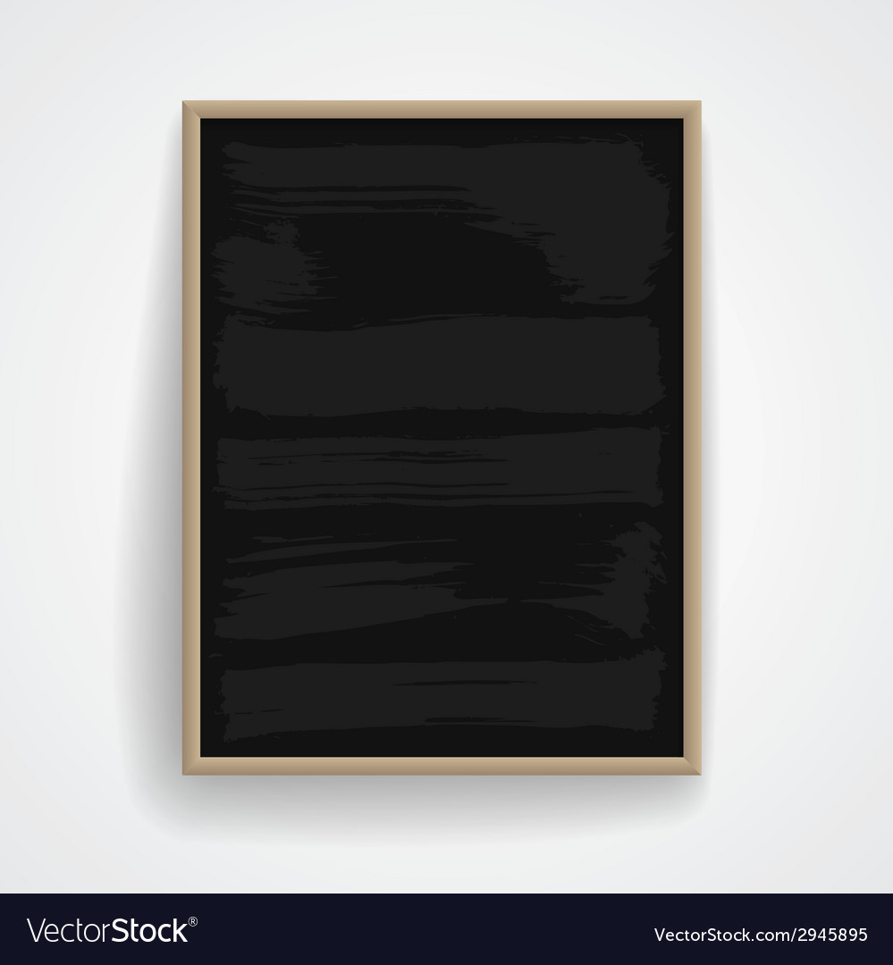 Black chalkboard with wooden frame vector | Price: 1 Credit (USD $1)