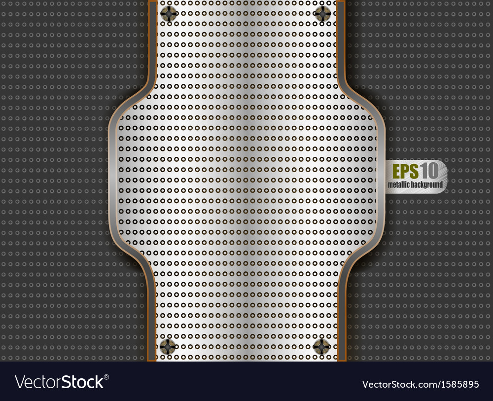 Chrome steel plate background vector