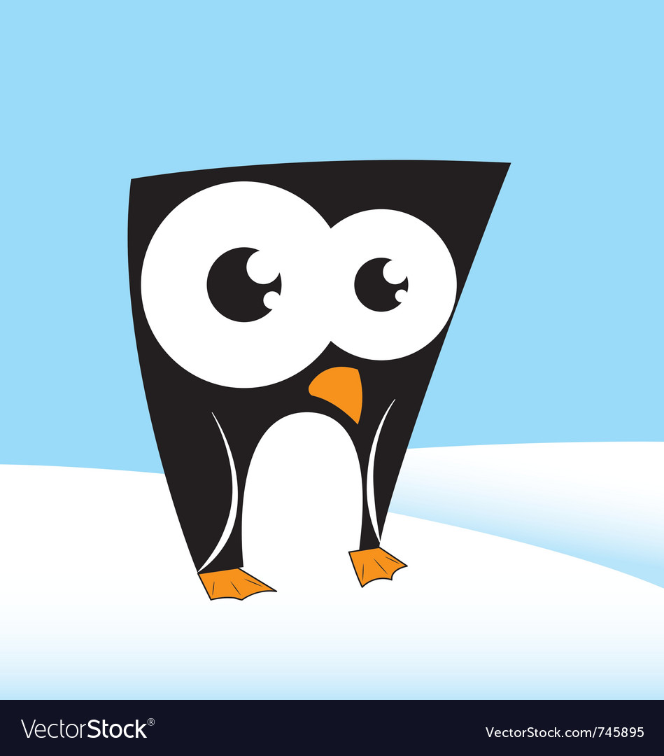 Cute penguin character vector | Price: 1 Credit (USD $1)