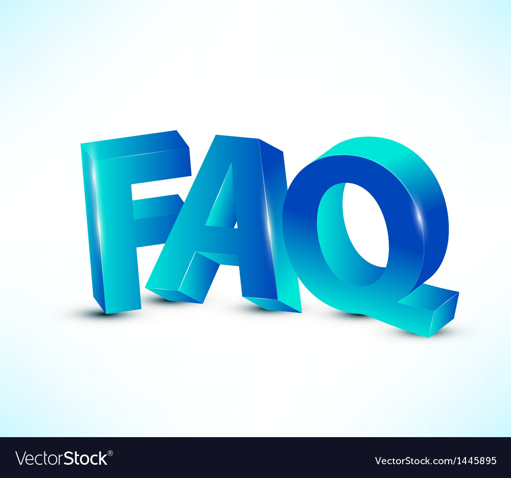 Faq letters vector | Price: 1 Credit (USD $1)